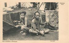 Indonesia Solo Javanese At Batikwork Vintage Postcard