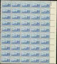 US  #1000 LANDING OF CADILLAC, DETROIT  SHEET OF 50
