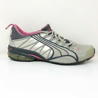 Puma Womens Voltaic 2 181863 42 Gray Pink Running Shoes Lace Up Low Top Size 8
