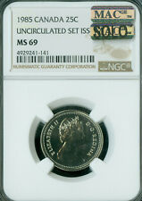 1985 CANADA 25 CENTS NGC MS69 PQ MAC SOLO FINEST GRADE MAC SPOTLESS  *