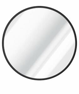 USHOWER 36-Inch Black Round Wall Mirror Large Metal Frame Decor Mirror for Ba...