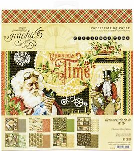 "Graphic 45 Double-Sided Paper Pad 8""X8"" 24/Pkg-Christmas Time"