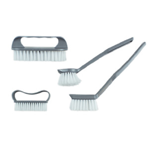4 Pack Kitchen Brushes Washing Up Scrub Dish Cleaner Hanging Hook Assorted