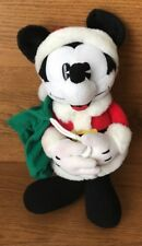 "Disney Gund Santa Pie Eyed Mickey Mouse Plush Stuffed Animal 13"" tall Christmas"