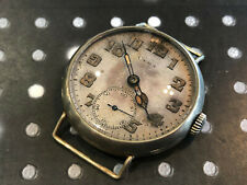 Vintage Cyma men's military wristwatch rare 1920's trench USA Texas Runs patina
