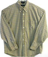 Nautica Mens Size XL Long Sleeve Button Front Button Down Checks & Plaids Shirt