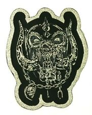 Motorhead - Snaggletooth - Shaped Woven Patch Sew/Iron On Rare Silver Glitter