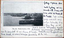 1904 Private Mailing/Postcard: Harbor, Cape Breton-Sydney, Nova Scotia, Canada