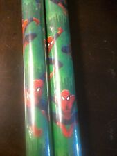 Marvel Green Spiderman GIFT WRAP WRAPPING PAPER ROLL CHRISTMAS 80 SQ. FT