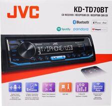 JVC KDTD70BT 1-DIN Bluetooth In-Dash CD/AM/FMDigital Media Car Stereo KD-TD70BT