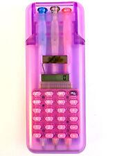 Calcolatrice solare astuccio per 3 penne
