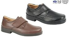 MENS EEE EXTRA WIDE FIT SHOES ROAMERS LEATHER  BROWN BLACK  SIZE 6 - 15 UK