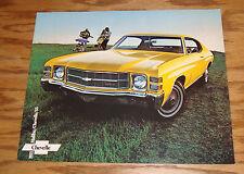 Original 1971 Chevrolet Chevelle Malibu SS Sales Brochure 71 Chevy