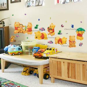 Winnie The Pooh Wall Stickers Home Decor Kids Room Nursery Sticker 25pcs