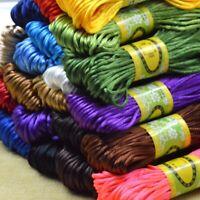 20 Meter 2.5mm Braided Macrame Satin Silk Cord Chinese Knot Nylon Rattail Thread