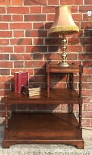 Three Tier Stepped Watnot Side Table / Perfect Plant Stand