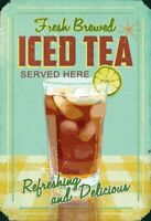 Fresh Brewed Iced Tea Blechschild Schild gewölbt Metal Tin Sign 20 x 30 cm