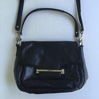 Coach Taylor Leather Flap Shoulder Bag Crossbody Silver/Black No F27481