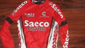 Mens Saeco Cannondale l/s cycling jersey mens small