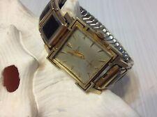 Vtg Jules Jurgensen 14K Yellow Gold Men's Dress Wrist Watch JB Band Manual Wind