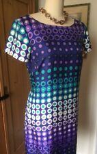 BODEN Silk Dress Size US 12 Or U.K. 16 With Polka Dot Patten Clear Sequin Sheath