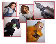 5 Vintage 1988 Wizard of Oz Doll Set Dorothy Scarecrow Witch Tin Man Multi-Toys