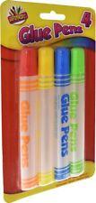 4x 50ml Glue Pens Adhesive Kids Childrens School Craft Non-Toxic Safe Stationery