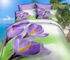 3 tlg.3D Bettwäsche Bettbezug Bettgarnitur 155/200 cm Motiv Tulpen Rosen im Wind