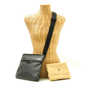 Louis Vuitton Thomas Damier Graphite N58028 ShoulderBag MessengerBag Black Leath