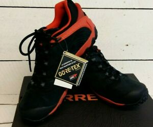 Men's Merrell Cham 7 GTX Fire Black/Orange Waterproof Lace Up Trainers