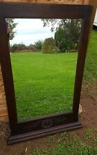 Antique 19th Century Rosewood Regency Overmantle Wall Mirror