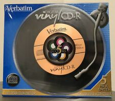 Verbatim 5 Pack Digital Vinyl CD-R Color w/ Cases - Blank Media 700MB 80Min