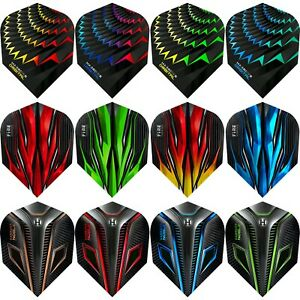 Harrows Dart Flights Tough No 6 Standard Shape 1-10 Sets Orbital / Fire / Noble