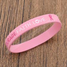 Women Bracelet Breast Cancer Awareness Wristband Cuff Girls Accessories Jewelry
