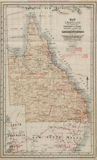 RETE Ferroviaria Queensland. FERROVIE Relazione del commissario. MAPPA di bestiame 1908