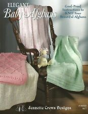 Elegant Baby Afghans Knitting Instruction Patterns Jeanette Crews Designs NEW