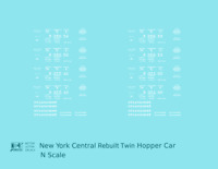 K4 N Decals New York Central System Rebuilt Twin Hopper White