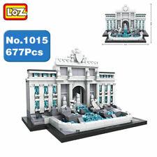 Loz Architecture Series Rome Trevi Fountain Kids Puzzle Mini Block Brick Toy
