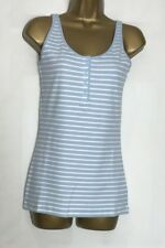 Next Blue Striped Cotton Stretch Vest Top Sizes 8, 10, 12, & 14 (n-36s)
