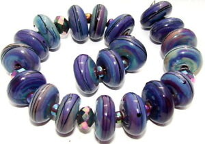 "Sistersbeads ""F-Blue Bayou"" Handmade Lampwork Beads"