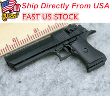 "U.S.A 1/6 Desert Eagle Miniature Pistol Weapon Model Black Hand Gun F 12"" Toys"