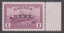 Canada 1949 #O10  O.H.M.S. on $1.00 Peace Issue - MNH VF