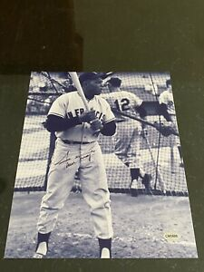 Willie Mays 8x10 signed photo with coa Giants