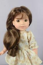 """BROWN DOLL WIG 8/9"""" FITS AMERICAN GIRL WELLIE WISHER DOLLS"""