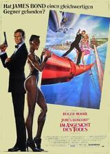 James Bond 007 IM ANGESICHT DES TODES Roger Moore Filmplakat A1 GEROLLT 1985