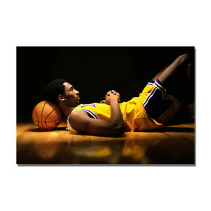 Kobe Bryant Young Basketball Poster Sport Art Painting Print Bedroom Wall Decor