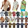 Men Boho Floral Hawaiian T-Shirt Blouse Short Sleeve Casual Beach Shirt Tops Tee