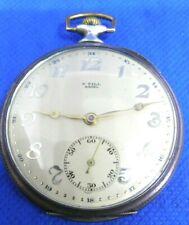 Montre poche Gousset F.Till Basel Silver LWC 0,800 Pocket Watch Taschenuhr Rubis