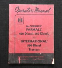 1959 INTERNATIONAL HARVESTER FARMALL McCORMICK 460 560 DIESEL TRACTOR OPR MANUAL
