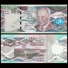 Barbados Bank Note $100.00 UNC Uncirculated Issued May 2,2013